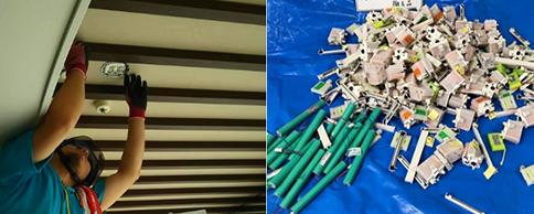パークシティ武蔵小杉非常灯・誘導灯、器具・バッテリー・ランプ交換工事